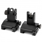 Tactical Folding Front + Rear Sights - Black (Pair)