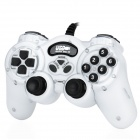 Dual Shock USB Wired Gaming-Controller Joypad Vibrating - White + Black