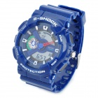 Dual-Time Display Water Resistant Quartz Diving Wrist Watch - Blue (1 x CR2016 / 1 x SR626SW)