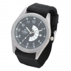 Stylish Quartz Wrist Watch w/ Week /Date Dails - Black (1 x CR2032)