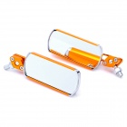 Aluminium Alloy Motorcycle Anti-Glare Rearview Mirrors - Golden (2-Piece)