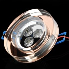 Kristall-1W 270 ~ 3000 ~ 3200K 300lm 3-LED Warm White Lampe - Transparent Red