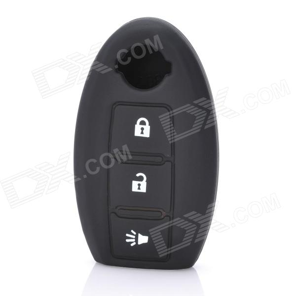 Protective Silicone Case for Nissan 3-Button Remote Key - Black рюкзак case logic 17 3 prevailer black prev217blk mid