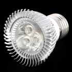 E27 3W 280~300LM 6000~6300K 3-LED White Light Bulb (90~265V)