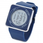 Men's Square Shaped Dial LED Wrist Watch with Blue Backlight - Dark Blue (1 x LR626)