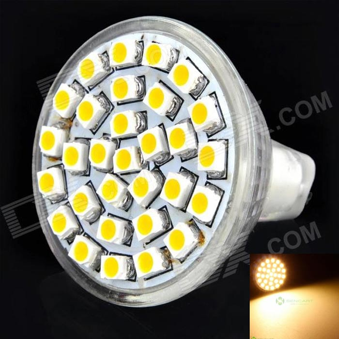 GU4.0 1.8W 150~180LM 3000~3500K 30x3528SMD LED Warm White Light Bulb