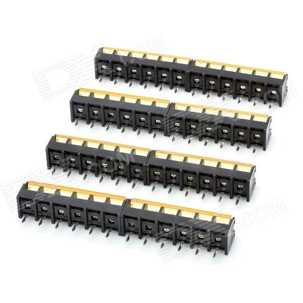300V 10A 6-Pin Screw Terminal Block Connector w/ Cover (8-Piece Pack) 300v 10a 3 pin screw terminal block connector w cover 12 piece pack