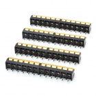 300V 10A 6-Pin Screw Terminal Block Connector w/ Cover (8-Piece Pack)