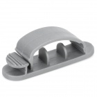 Computer Networking Wire Cord Cable Clip Organizer Kit - Grey