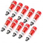 3A Car Indicator / Signal LED Red Light Lamp - Red (10-Piece Pack)