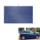 3D Carbon Fiber Paper Decoration Sheet Car Sticker - Blue (12 x 20cm)