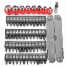 Multi-in-1 Portable Copper Pliers + 48 Screwdriver Bit Set - Silver