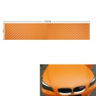3D Carbon Fiber Paper Decoration Sheet Car Sticker - Golden (200 x 30cm)