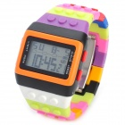 Bunte LED Fashion Armbanduhr - Multi-Color (1 x LR626)