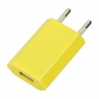 AC USB Charging Adapter Charger for iPhone 4 / 4S - Yellow (AC 100~240V / EU Plug)