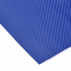 3D Carbon Fiber Paper Decoration Sheet Car Sticker - Blue (200 x 30cm)