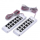 1.5W 6500K White 12-LED Car Brake / Daytime Running Light Lamp (2-Piece / 12V)
