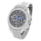 Men's Fashion Quartz Wrist Watch - Silver + Black (1 x LR626)