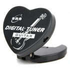 ET-350G Heart-Shaped Automatic Guitar Tuner - Black (1 x CR2032)