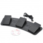 FS3-P Tri-Pedal controlador USB Foot Switch - Preto