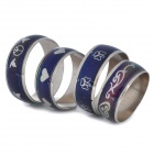 Beautiful Body Temperature Control Color Changing Mood Rings Set - Silver + Blue (4-Piece Pack)