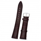 Cow Leather Sweat-Resistant Wristwatch Strap Watchband - Deep Brown (8.8 x 2.2 x 0.2cm)
