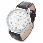 Men's Fashion Quartz Wrist Watch - Brown + Silver (1 x LR626)