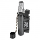 1300'C Windproof Blue Flame Butane Jet Torch Lighter - Black + Silver