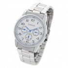 Elegant Water Resistant Quartz Wrist Watch - Silver + White (1 x LR626)