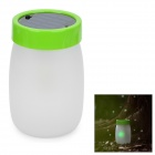 Stylish Solar Powered Green Light 1-LED Elf Jar Night Lamp - Green