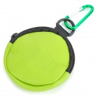Zippered YO-YO Carrying Bag Pouch with Carabiner - Green