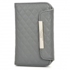 OMO Protective PU Leather Flip-Open Case for Iphone 4 / 4S - Grey