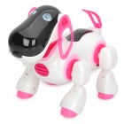 Cute IR Remote Control R/C Dog - White + Black + Pink (4 x AA)