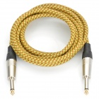 Gold-Plated Instrument Guitar Bass Cable Cord - Grass Green + Yellow (3m-Length)