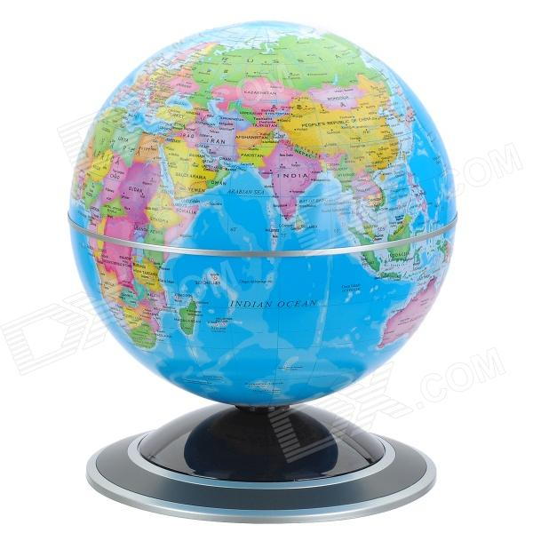 14cm English Administrative Map Rotating Globe w/ Light - Blue (2 x AA)