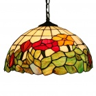 Tiffany Pendant Light with 2 Light in Floral Leaf Patterned Shade (110-120V)