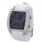 Sports Fashion Blue LED Digital Analog Wrist Watch - White (2 x CR2016)