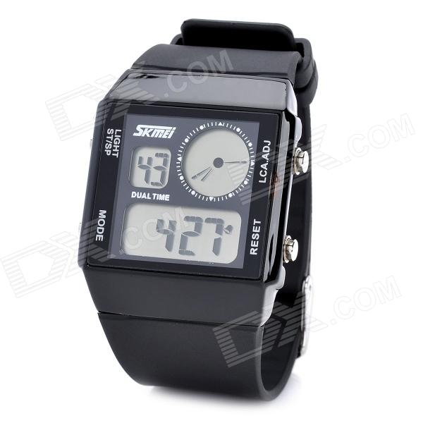 Men's Sports Multicolored Back-light Water Resistant Digital Wrist Watch - Black (1 x CR2025) fashion blue light led water resistant wrist watch black grey 2 x cr2016