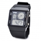Men's Sports Multicolored Back-light Water Resistant Digital Wrist Watch - Black (1 x CR2025)