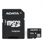 ADATA Micro SD HC / TF Memory Card w/ SD Adapter- 32GB (Class 4)