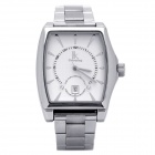 Genuine IK Colouring Stainless Steel Self-Winding Mechanical Wrist Watch - White + Silver