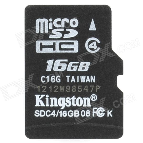 Kingston SDC4 Micro SD HC / TF Memory Card - 16GB (Class 4)