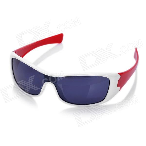 Fashion Outdoor Sports Cycling UV400 UV Protection Goggles (White + Red Frame)