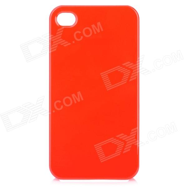 Simple Protective Plastic Back Case for Iphone 4 / 4S - Red protective plastic silicone back case for iphone 4 4s red