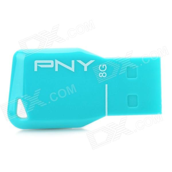 PNY ATTACHE Mini USB 2.0 Flash Drive - Blue (8GB)