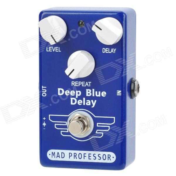 Guitar True Bypass Digital Delay Effect Pedal - Deep Blue aroma adl 1 true bypass delay electric guitar effect pedal high quality aluminum alloy guitar accessories delay range 50 400ms