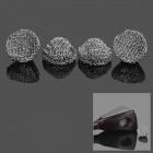 18mm Zinc Alloy Tobacco Pipe Screen Filter Ball Net Ball - Silver (4-Piece Pack)