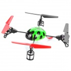 Creative 2.4GHz Remote Control 4-CH Beetle Style Flying UFO w/ Gyro - Green