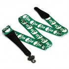Skull Pattern Adjustable Fabric Guitar Strap - Green