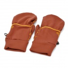 WONNY Outdoor Sports Non-Slip Full Finger Gloves - Coffee + Yellow (Pair)